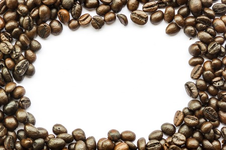 coffee beans isolated on white . photo