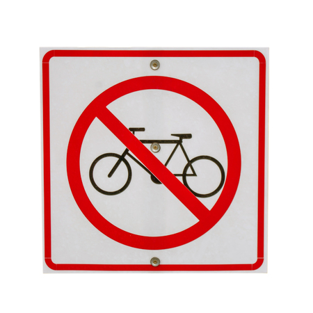 sign no bicycle isolate. photo