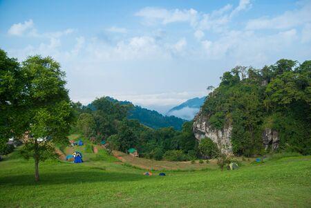 Tropical forest at Nan Northern Thailand. Doi Samer Dao. Standard-Bild