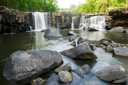 Tatton Waterfall National Park located in deep forest of Thailand,