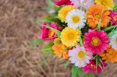 Close up of decoration artificial flower.