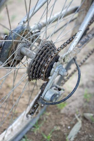 Old bicycle gear. Standard-Bild