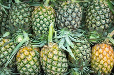 fresh pineapple on market