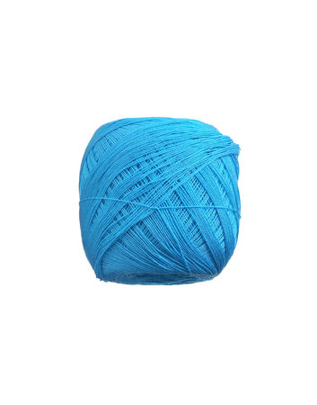 color yarn ball on white background photo