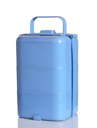 homeware: light blue food box on white background