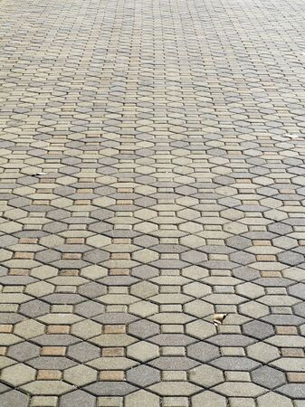 cement floor: stone and cement floor in park