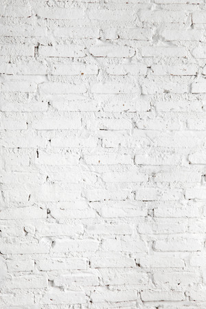 background texture: close up white brick wall in factory