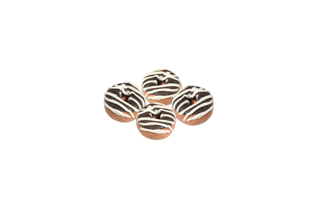 Miniature Donut Model From Japanese Clay On White Background