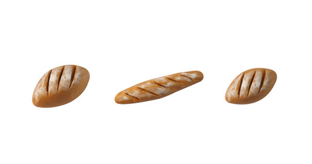 baguette model from japanese clay on white background Stock Photo