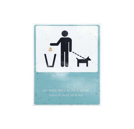 old clean up after your pet sign on iron board Фото со стока