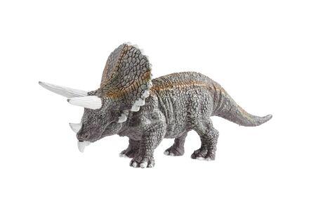 Dinosaur toy isolated on white background, Minaiture dinosaur model