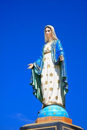 virgin mary mother of god: Virgin mary statue at Chantaburi province, Thailand.