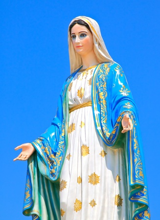 madonna: Virgin mary statue at Chantaburi province, Thailand.