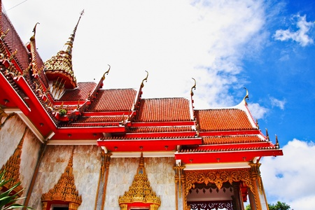 apex: Gable apex in temple roof , Thailand Stock Photo