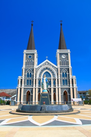Catholic Church in Chantaburi province backdrop of a beautiful day, Thailand photo