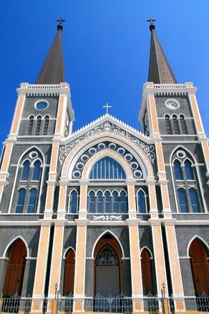 Catholic Church in Chantaburi province backdrop of a beautiful day, Thailand Stock Photo - 12391193