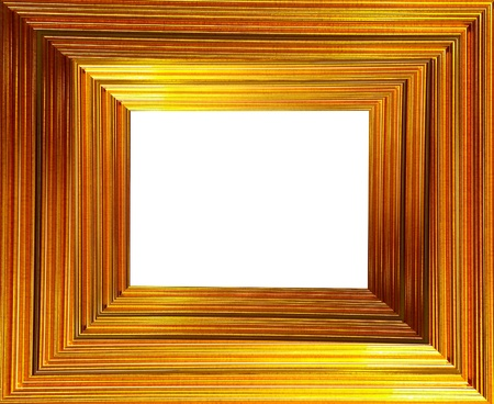 picture of frame from wood, isolated on white photo