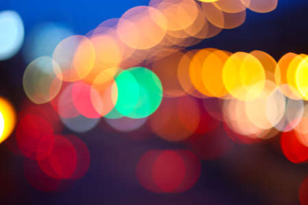 Picture of beautiful bokeh lights for background  photo