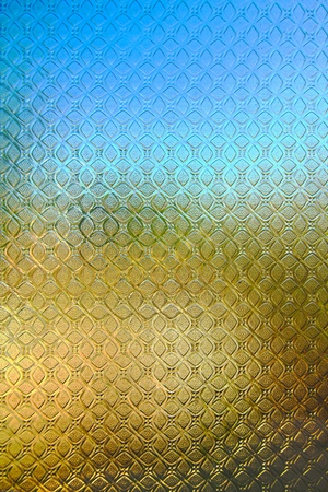 picture of pattern on the stained glass background. Stock Photo - 12983010