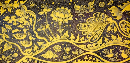 Picture of traditional Thai style painting art Stock Photo - 13048041