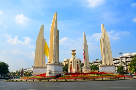 The Democracy Monument is a public monument in the centre of Bangkok, Thailand Stock Photo - 13089533