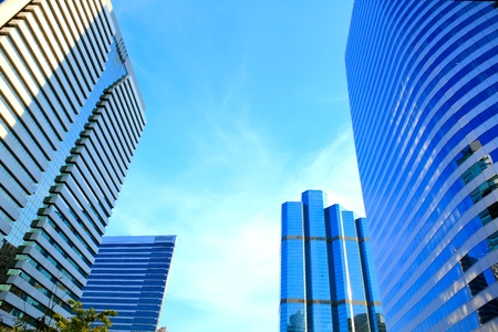 Business area , buildings in the city of bangkok, Thailand. photo