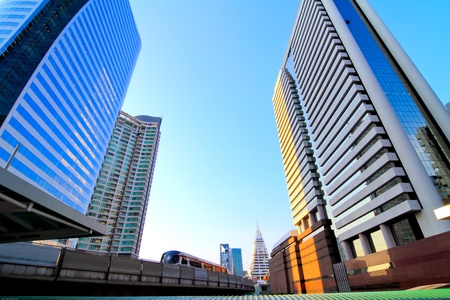 Business area , buildings in the city of bangkok, Thailand  photo