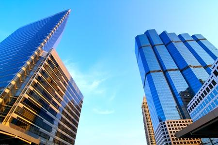 commercial real estate: Zona de negocios, edificios de la ciudad de Bangkok, Tailandia Foto de archivo