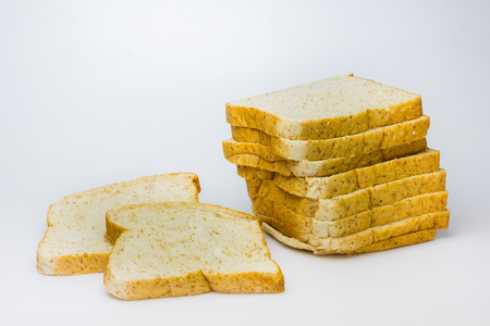 picture of Whole wheat Bread on white background photo