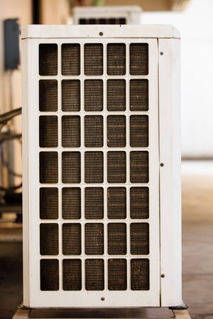 cooling: cooling plate of air conditioner Stock Photo
