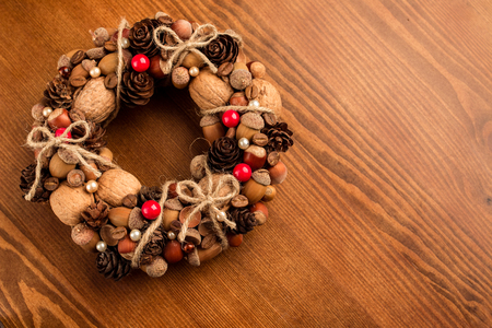 Decorative autumn wreath