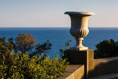 vorontsov: Sea views from the terrace of Vorontsov Palace, Alupka Crimea Stock Photo