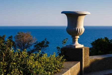 vorontsov: Sea views from the terrace of Vorontsov Palace, Alupka Crimea Stock Photo