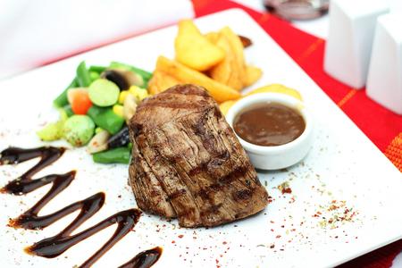 steak tenderloin with garnish