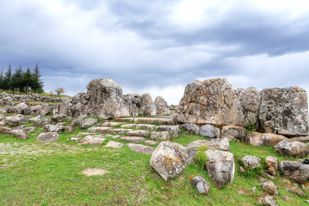 Located in the capital of the Hittite Corum province in the Black Sea region of Turkey Hattusa is an ancient city located near modern Bogazkale.