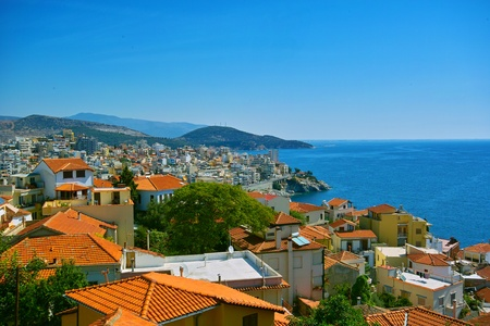 Seaview from Kavala ,Greece photo