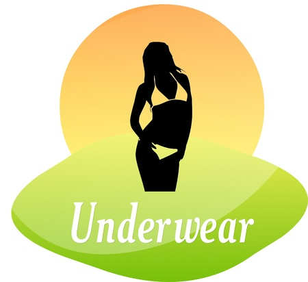 Underwear logo woman silhouette Vector
