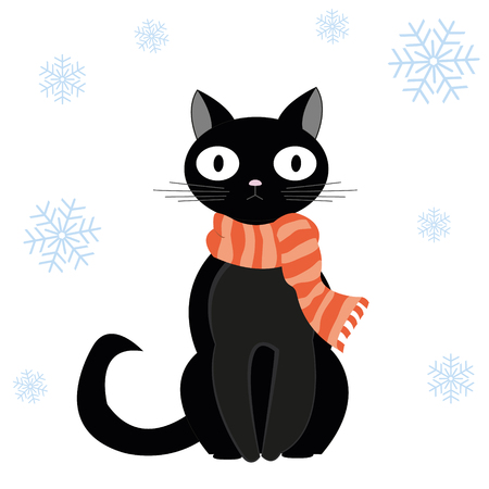 february 1: Cat and snow