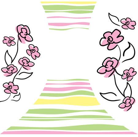 vector kaart met bloemen