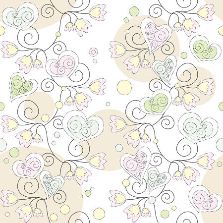 seamless floral romantic wallpaper Stock Vector - 6762602