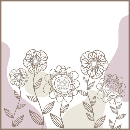 cute card with flowers Stock Vector - 6762543