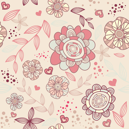 seamless romantic wallpaper Vector