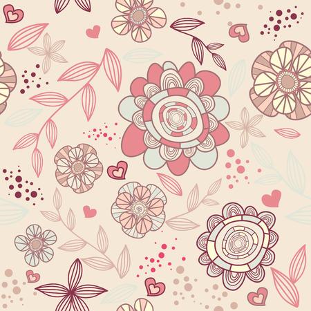 seamless romantic wallpaper Illustration