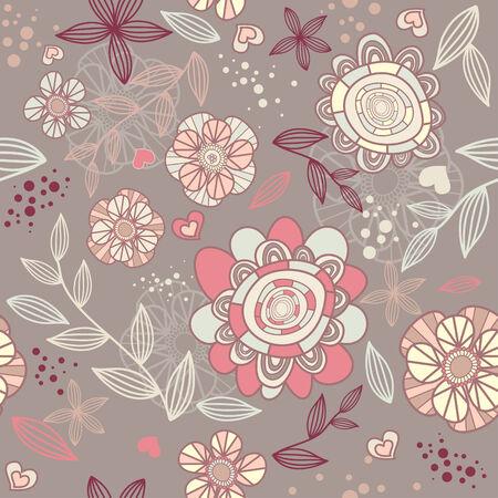 seamless romantic wallpaper Stock Vector - 6762577