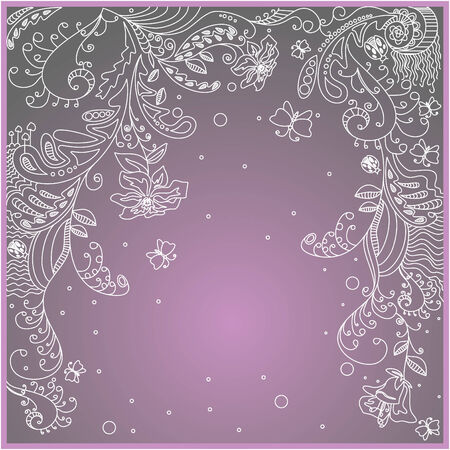 lovely greeting card with free place for your text Vector