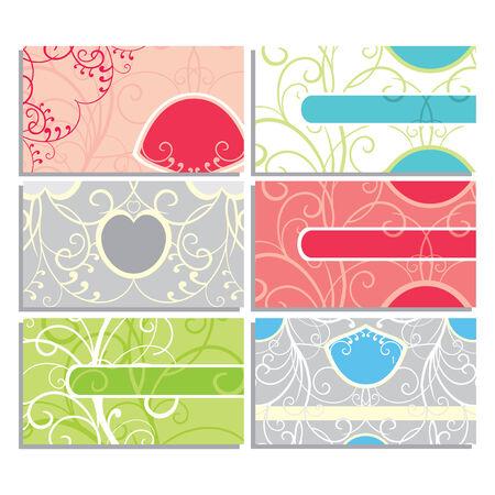 florist: set of cute business cards