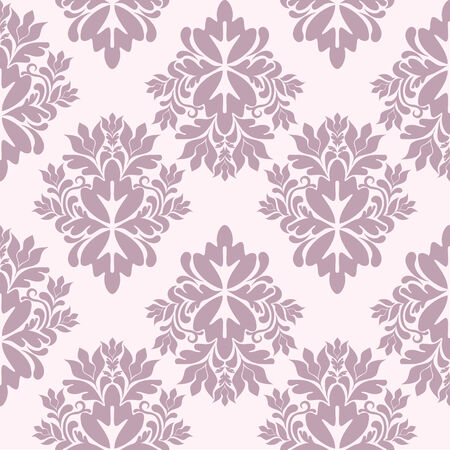 baroque background: seamless damask wallpaper, illustration Illustration