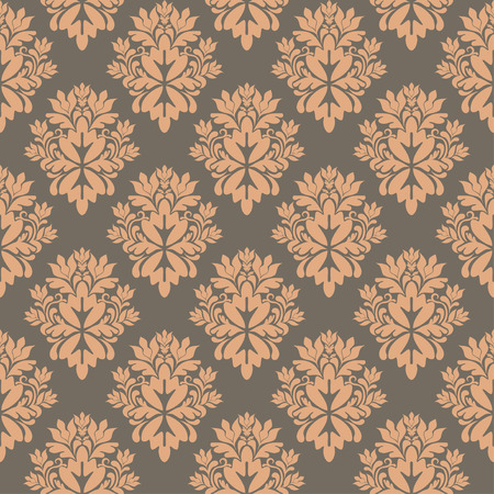 seamless damask wallpaper, illustration Illustration