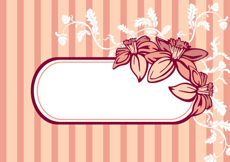 retro frame with flowers Stock Vector - 6762615