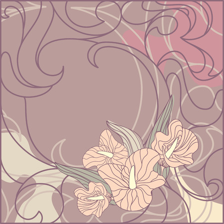 Cute floral background with free place for your text Stock Vector - 6762655